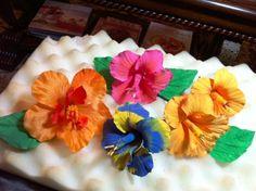 Hibiscus I made for a Hawaiian cake.