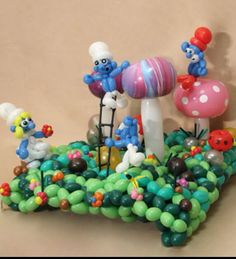 Smurf balloon sculpture #smurf # #balloon #sculpture #twist #art #character #centerpiece #decor