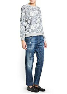 MANGO - Rebajas - Cardigans y jerseis - Sudadera estampado floral