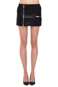 Anine Bing Biker Zip Leather Skirt