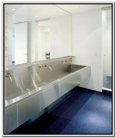Stainless Steel Trough Sink Bathroom