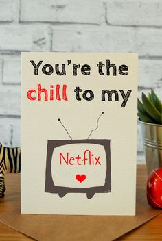 Funny anniversary cards, funny valentines day cards, best friend birthday card, handmade cards, anniversary cards, netflix and chill quotes