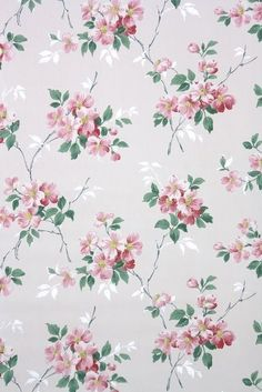 so many pretty floral vintage wallpaper patterns available by the yard great for crafting Vintage Wallpaper Patterns, Pattern Wallpaper, Cool Wallpapers For Phones, Pretty Wallpapers, Vintage Retro Bedrooms, Wall Paper Phone, Floral Printables, Tree Wall Art, Flower Backgrounds