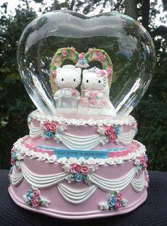 large hello kitty wedding cake ceramic music box dear daniel - Hello Kitty Wedding Ring