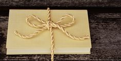 Book, Gift, Cord, Gold Cord, Golden