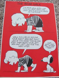 Peanuts Exercise Poster