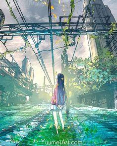 32 Ideas For Training Wallpaper Anime Train Wallpaper, 480x800 Wallpaper, Anime Scenery Wallpaper, Anime Artwork, Fantasy Landscape, Fantasy Art, Yuumei Art, Image Manga, Dark Art