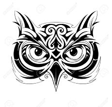 Znalezione obrazy dla zapytania owl tribal tattoo