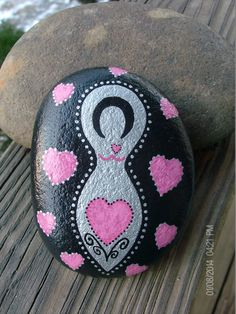 Love Goddess Stone with Hearts Gift Bag by TheSimplifiedWitch, $10.00
