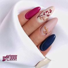 cute autumn nail designs you'll want to try 3 ~ Modern House Design Stylish Nails, Trendy Nails, Cute Nails, Fall Acrylic Nails, Autumn Nails, Short Gel Nails, Fall Nail Art Designs, Dream Nails, Nagel Gel