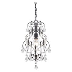 Designers Fountain Flora 6204-ORB 1 Light Mini Chandelier - 6204-ORB