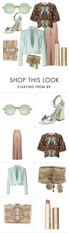"""Happy 1 st May"" by wiamfashionstyle ❤ liked on Polyvore featuring Illesteva, Ivy Kirzhner, Cushnie Et Ochs, Thierry Mugler, Forever Unique and Stila"
