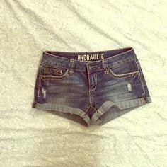 Jean Shorts HYDRAULIC brand jean shorts purchased at Kohls Hydraulic Shorts Jean Shorts