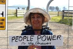 Sharyn Munro is currently blocking access to stop AGL's coal seam gas fracking in the Gloucester Valley.