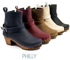 The Philly clog boots are stunning and ultra-fashionable clog booties. The height of these clog boots make them perfect to pair with your favorite jeans or skirt. Where fashion meets comfort! #boots #clogs