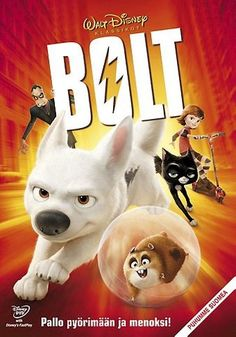 Bolt on DVD from Disney / Buena Vista. Directed by Byron Howard. Staring John Travolta, Miley Cyrus, Nick Swardson and Randy Savage. More Comedy, Family and Animals & Nature DVDs available @ DVD Empire. Walt Disney, Disney Films, Disney Cinema, Disney Dvd, Disney Pixar, Disney Eras, Disney Family, John Travolta, All Movies