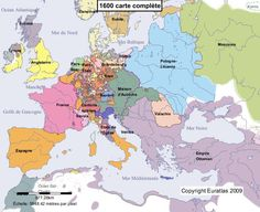 Historical map of Europe in the year 1600 AD ⍋