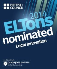 English Online's Summer EAL MOOC was nominated for ELTons 2014 in the local innovation category.