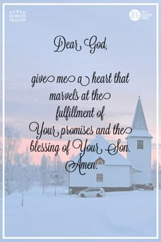 Dear God, this Christmas give me a heart of that marvels at the fulfillment of Your promises and the blessing of Your Son. Motivational Bible Verses, Inspirational Quotes, Fulfillment Quotes, Christmas Blessings, You Promised, Power Of Prayer, Daily Prayer, Life Purpose, Dear God