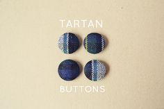 Fall for DIY:Tartan buttons