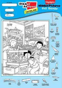 "Képtalálat a következőre: ""hidden pictures highlights"" Worksheets For Kids, Craft Activities For Kids, Kindergarten Activities, Scattergories Lists, Hidden Pictures Printables, Highlights Hidden Pictures, Hidden Picture Puzzles, Class Pet, Kids Sheets"
