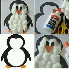 Winter Crafts For Kids Kids Crafts, Winter Crafts For Kids, Toddler Crafts, Art For Kids, Winter Preschool Crafts, Christmas Crafts For Toddlers, January Crafts, Penguin Craft, Preschool Art