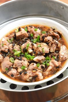 Steamed Pork Ribs with fermented Black Beans are super tender, full of flavor, and perfect with steamed rice. They're so quick and easy to make, you can enjoy this popular dim sum right in your own home! Pork Rib Recipes, Veggie Recipes, Healthy Dinner Recipes, Cooking Recipes, Smoker Recipes, Veggie Food, Cooking Tips, Chinese Dishes Recipes, Asian Recipes