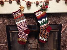 Ravelry: shesaRaiNbOw's Zach & Laura's Stockings - Stockings I made last year and can't wait to put up again!