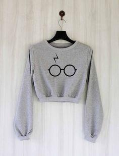 Pott Head Shirt Harry Potter Crop Top Sweatshirt Sweater by SaBuy