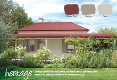 Haymes Paint Exterior Colour Scheme: Colorbond Manor Red is the Roof, Haymes Windsor is the Trims and Haymes Calm is the weatherboards