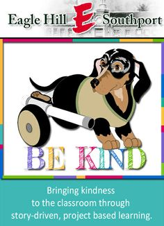 """Ricky Bobby and the """"Be Kind"""" project pay a visit to Eagle Hill Southport."""