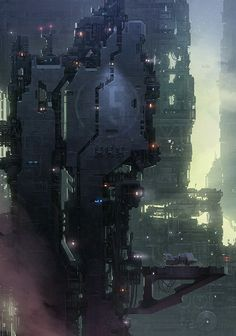cosmicwolfstorm: Tagonis Refinery Depths by Christopher... | Sci-Fi Futuristic Architecture Concept