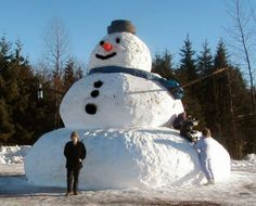 Biggest Snow Man, Maybe Ever