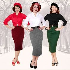 We have lots of lovely new Dogtooth Lined Pencil Skirts in stock! Sure to keep you toasty while looking fabulous this winter.#vivienofholloway #voh #vintage #vintagegirl #vintagestyle #1950s #1940s #pencilskirt #madeinlondon #pinupgirl #pinup #pinupstyle #rockabillygirl #dogtooth