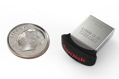 World's smallest' USB flash drive about the size of a dime, unveiled by SanDisk. SanDisk, launched two new USB flash drives – the SanDisk Ultra… Electronics Gadgets, Tech Gadgets, Usb Drive, Usb Flash Drive, Tech Toys, Mens Gear, Digital Trends, Cool Tech, Clothes Horse