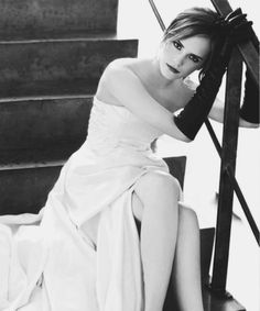 """Emma Watson achieved worldwide fame as Hermione Granger in the Harry Potter movie series. """"I could be 100 years old and in my rocker,"""" she says, """"but I'll s Hermione Granger, Emma Watson Elle, Enma Watson, Fangirl, Harry Potter Film, Romy Schneider, Evan Rachel Wood, Glamour, British Actresses"""