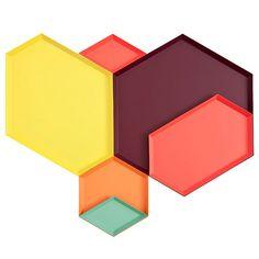 Kaleido Trays / designed by Hay & Clara von Zweigbergk. via Design*Sponge #geometry