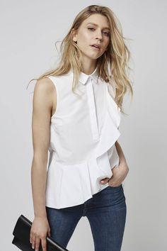 Photo 2 of Short Sleeve Ruffle Shirt