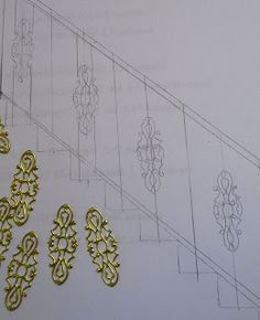 Miniature Dreamworld: Using stampings to create ornate banisters or for fairy house decor.