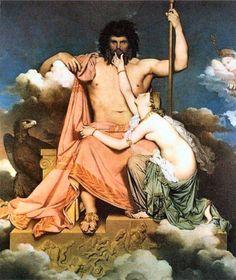 Zeus et Thetis, Jean Auguste Dominique Ingres, 1811