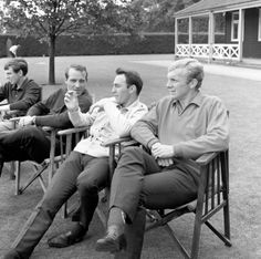 Jimmy Greaves holds the attention of fellow England World Cup squad players Bobby Moore (right) and Ron Springett as they relax at Roehampton, London. World Football, Football Team, West Ham Wallpaper, England World Cup Squad, England Football Players, 1966 World Cup Final, Jimmy Greaves, Bobby Moore, West Ham United Fc