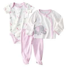 JUST ONE YOU  Made by Carters ® Newborn Girls Elephant 3 Piece Set - Pink.Opens in a new window. $20 Talles: RN, 3, 6, 9 meses
