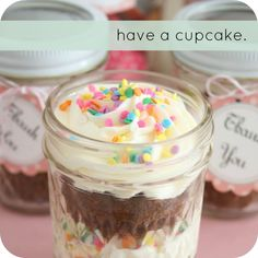 Pinterest Garden Crafts   Serve cupcakes in Mason Jars or give them away as cute party favors ...