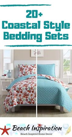 Coastal Bedding Sets For Beach Themed Bedroom. Check out these beautiful bea. - Coastal Bedding Sets For Beach Themed Bedroom. Check out these beautiful beach bedding sets per - Beach Bedroom Decor, Beach House Bedroom, Bedroom Themes, Home Bedroom, Home Living Room, Bedroom Ideas, Beach Condo, Design Bedroom, Dream Bedroom