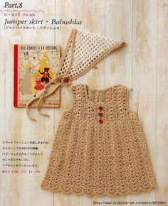 Pretty crochet dress pattern for baby girls. More Patterns Like This!