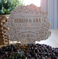 invitacions · invitacions de casament · detalls · casments · wedding · love · barcelona · essence · bodas barcelona · casaments barcelona · bodas madrid · bodas valencia · bodas en zaragoza · bodas en valencia · bodas en andorra · bodas en madrid · cafe · madera