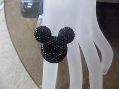 Mickey Mouse Bling Rhinestone Adjustable Ring
