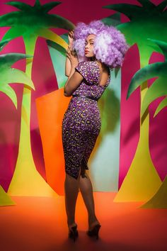 Deadly Dames Poison Ivy Dress in Purple Leopard