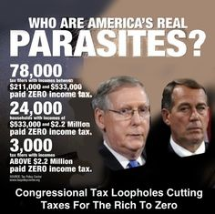 Corporate America and the GOP that support them are out of control. Republican tax loopholes and corporate subsidies allow those special interest groups that fund republican campaigns to pay zero income taxes or get large, unjustified tax refunds. Vote the GOP OUT !!!