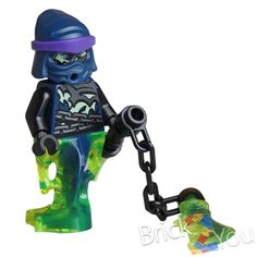 Lego Ninjago Chain Master Wrayth w/ Weapon from 70732 City of Stiix #LEGO